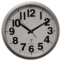 12 Inch Silver Atomic Wall Clock