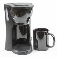 Space-Saving 1-Cup Coffeemaker