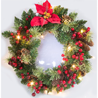 Battery Operated Lighted Wreath
