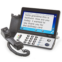Captioned Telephone with Touchscreen