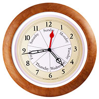 Day Clock Maple Contemporary