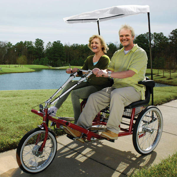 Dual Seat Adult Tricycles | FirstSTREET Unique Gifts, Products for Seniors