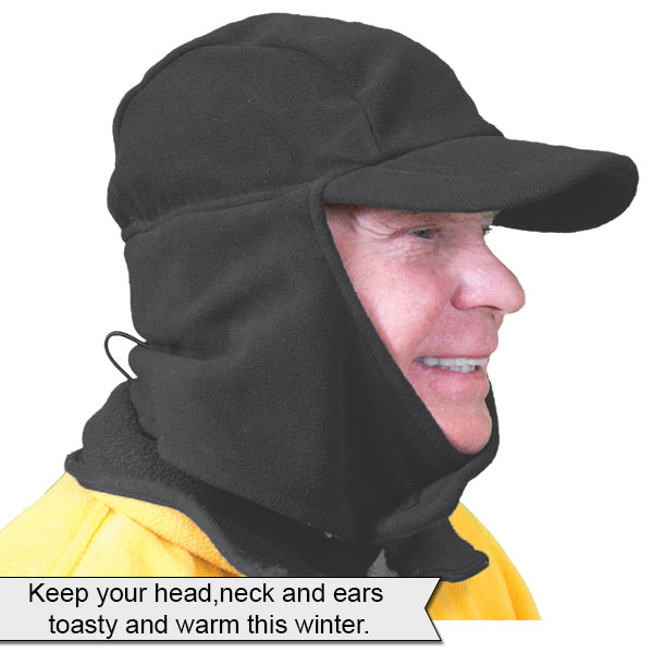 d0fdea2a2651cf Fleece Hat with Neck and Ear Cover
