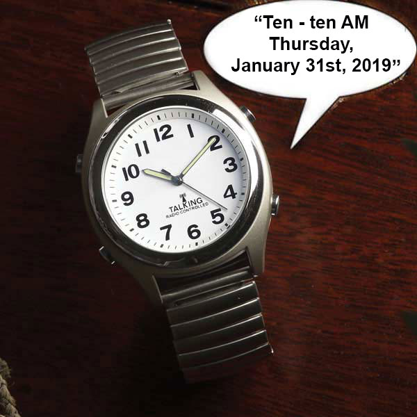 Atomic Talking Watch with Expansion Band | FirstSTREET
