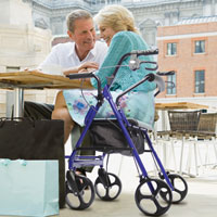 Unique Gifts for Grandparents - Dual Transport Chair-Rollator