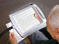 Reading Magnifier And Lighted Full Page Magnifier For