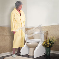 Toilet Lift Seat Elevated Toilet Seat Riser Firststreet Unique Gifts Products For Seniors