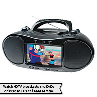 Portable TV and DVD Player