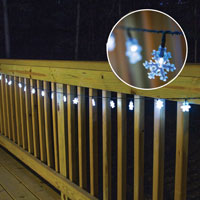 Solar LED Snowflake String Lights