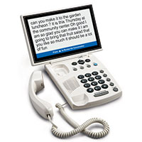 Widescreen Captioned Telephone