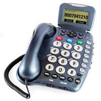 Deluxe Amplified Corded Phone with Answering Machine