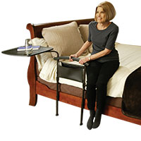 Bed Tray with Assist Rail