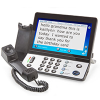 Captioning Telephone with Touchscreen