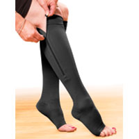 Compression Zipper Hosiery