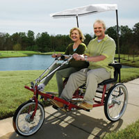 Dual Seat Adult Tricycles