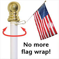 Free Spin Flagpole Set
