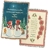 Personalized Holiday Throws