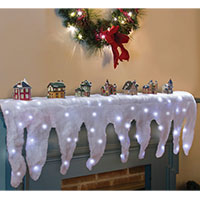 Lighted Icicle Mantel Cover
