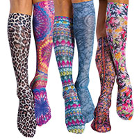 Knee High Printed Support Hosiery