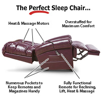 The Perfect Sleep Chair<sup>®</sup> - DuraLux Leather Lift Chair