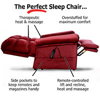 Perfect Sleep Chair - DuraLux II Microfiber