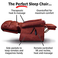 The Perfect Sleep Chair<sup>&reg;</sup> - DuraLux Leather Lift Chair
