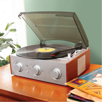 Stereo Turntable with AM/FM Radio