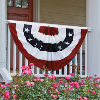 Stars & Stripes Pleated Fan