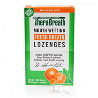 TheraBreath Mouth Wetting Lozenges  (72 ct)
