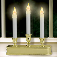 Non Flickering Triple LED Candlestick