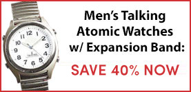 Atomic Talking Watch with Expansion Band