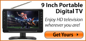 9 Inch Portable Digital TV