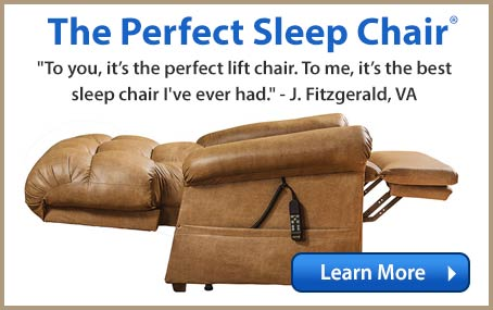 The Perfect Sleep Chair - DuraLux Leather Lift Chair