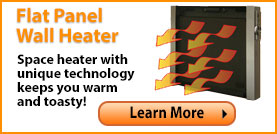 Flat Panel Wall Heater with Remote
